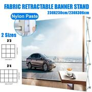 Folding Roller Banner Stand Sign Display Telescopic Banner Backdrop Show Ads