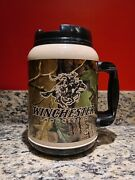 Whirley Winchester Camo Camouflage 64 Oz. Thermal Travel Mug With Lid Rare Euc