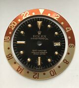 Rolex Black Gold Nipple Dial And Root Beer Dial Gmt Master 1675 Vintage Set