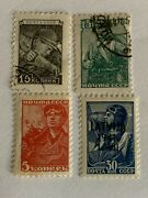 Russia Collectible Lot Of 4 Cancel Postmark Ovpt War Soldiers 19th Century