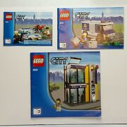 Lego City Police Bank And Money Transfer 3661 Instruction Manuals 1-3 Only