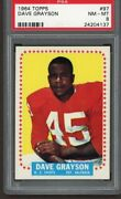 1964 Topps 97 Dave Grayson Graded Psa 8 Nm-mt Rc Rookie Card