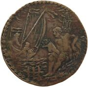 German States Medal Ship / Lilies 34mm 7.1g T156 535