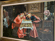 Anton Graff 1736-1813-circle Clergy Playing Chess Priest Oil Painting 1770