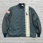 Vintage Ford Mustang Cobra Shelby Racing Jacket Distressed Black Rare