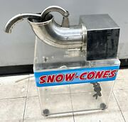 Snow Cone Machine Zy-sb130 Shaved Ice / Snow Ball No Shipping Pick Up Only
