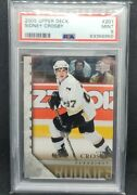 Sidney Crosby 2005-06 Upper Deck Ud Young Guns Rookie Rc 201 Psa 9