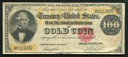 Fr. 1214 1882 100 One Hundred Dollars Gold Certificate Currency Note Very Fine