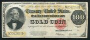 Fr 1215 1922 100 One Hundred Dollars Gold Certificate Currency Note Very Fine