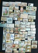 Huge Mixed Lot Of 74 Antique Victorian Trade Cards Medical Quack Advertising