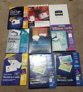 Southworth Mead Avery Pc Papers Geographics Business Cards Lot Of 9 Pkgs