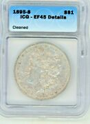 1895-s Morgan Silver Dollar Certified Ngc Ef45+ Looks Au With Full Wing Feathers