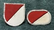 Original Vietnam Theater Made 17th Cavalry Beret Flash And Jump Wing Oval Patch