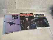 3 Lot 1987 Book Forged In Steel Us Marine Corps Aviation Look