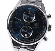 Tag Heuer Carrera Car2115 Chronograph Navy Dial Automatic Menand039s Watch_608835