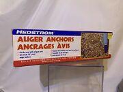 Steel Auger Anchors Set Of 4 By Hedstrom For Use With Gym Sets 14 - New