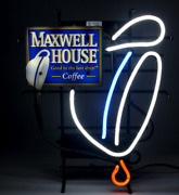 New Maxwell House Coffee Neon Sign - Rare Man Cave Collectible Vintage