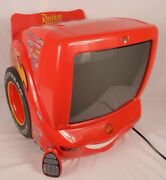 Disney Cars Lightning Mcqueen 13 Retro Gaming Tv Dvd Player Tested W Remote