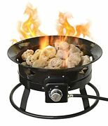 Portable Propane Outdoor Gas Fire Pit W/ Cover And Carry Kit 19-inch 58000 Btu