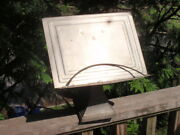 Antique Metal Cook Book / Bible Stand Book Holder 11 X 11 Inches