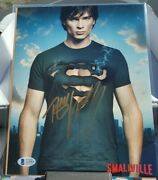 Tom Welling Hand Signed Superman Smallville Auto 8x10 Photo With Beckett C.o.a.