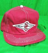 Vtg K-brand Select Sires Farm Patch Usa Made Hat Red Seed Snapback Cap