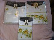 Vintage Springmaid Rosegay Full Flat And Fitted Sheets Plus Pillowcases Nip Nos