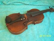 Vintage Early 1800and039s Stradavarius 3/4 Violin Repairs 1942 Made In Germany 1817