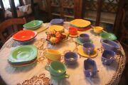 Homer Laughlin Riviera Vintage Dishes- Large Lot Of 50 Dishes