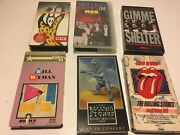 Rolling Stones Music Videos Vhs Concerts Rock Collection- Gimme Shelter- More