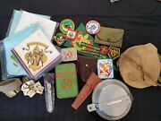 Vintage 70s/80s Boy Scout Lot First Aid Camping Sewing Kit