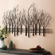 Farmhouse Wall Decor Metal Country Kitchen Dining Living Rm Tree Sculpture 28x48
