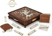 Ws Scrabble Luxury Edition With Rotating Game Board