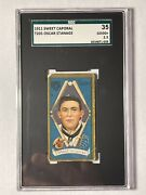1911 T205 Sweet Caporal Cigarettes Gold Border Oscar Stanage Sgc 2.5 Tigers