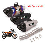 Slip On Atv Exhaust 51mm Muffler Connect Mid Pipe Modified For 790 Adv 2020-2021