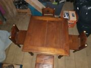 Antique Child's Table And Chairs, Indonesian Primitive Teak
