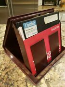 Lot Of 11 With Portable Case 8 Inch 8 Floppy Disk Diskette Ibm Vintage