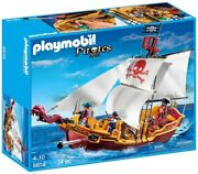 Playmobil Pirates 5618 Red Serpent Pirate Ship With Cannon Brand New Sealed