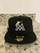 Hat Club Exclusive 7 3/8 Lbj Andldquoi Want My Respect Too Collection Miami Marlins