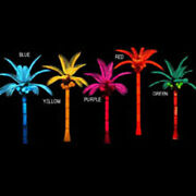Tropical Paradise Realistic Palm Tree Lighted Display Outdoor Pool Yard Art