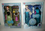 Frozen Singing Anna And Elsa Doll 12 New Disney Store