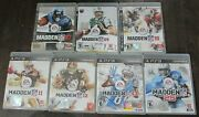 Madden Nfl 07 09 10 11 12 13 25 Ps3 Sony Lot Of 7 Football Video Games