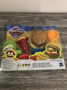 New Hasbro Play-doh Kitchen Creations Burger Bash W 4 Small Cans Of Compounds