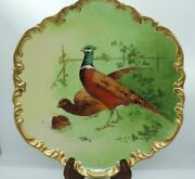 Limoges France Pheasant Hand Painted Signed L Coudert Game Bird Charger Plate