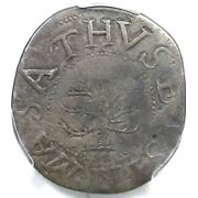 1652 N-5 R-2 Pcgs Vf Details In At Bottom Oak Tree Shilling Colonial Coin