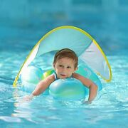 Free Swimming Baby Inflatable Swimming Float With Bottom Support Canopy Large