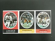 1972 Sunoco Football Stamps 3 Stamp Panel Dwight White