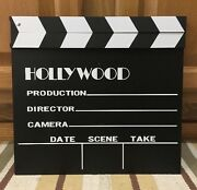 Movie Clapper Hollywood Home Theater Cinema Poster Movies Decor Soda Tv Dvd