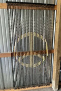 Vintage Wooden Beaded Peace And Love Room Doorway Curtain Peace Sign Hippy Boho