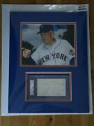 Casey Stengel Matted Photo And Psa Index Card